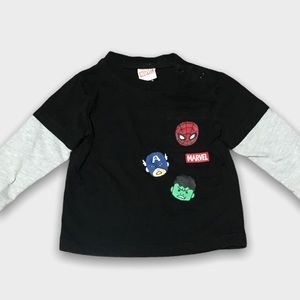 4/$20🥳 Long Sleeve Black And Gray Marvel Shirt